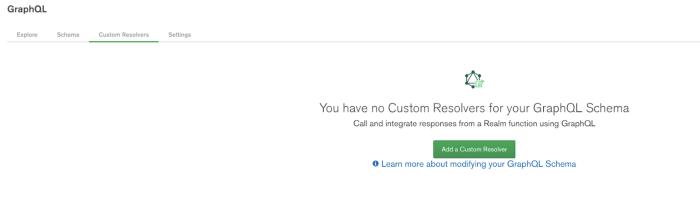 Screenshot of Add Custom Resolver Screen in Realm