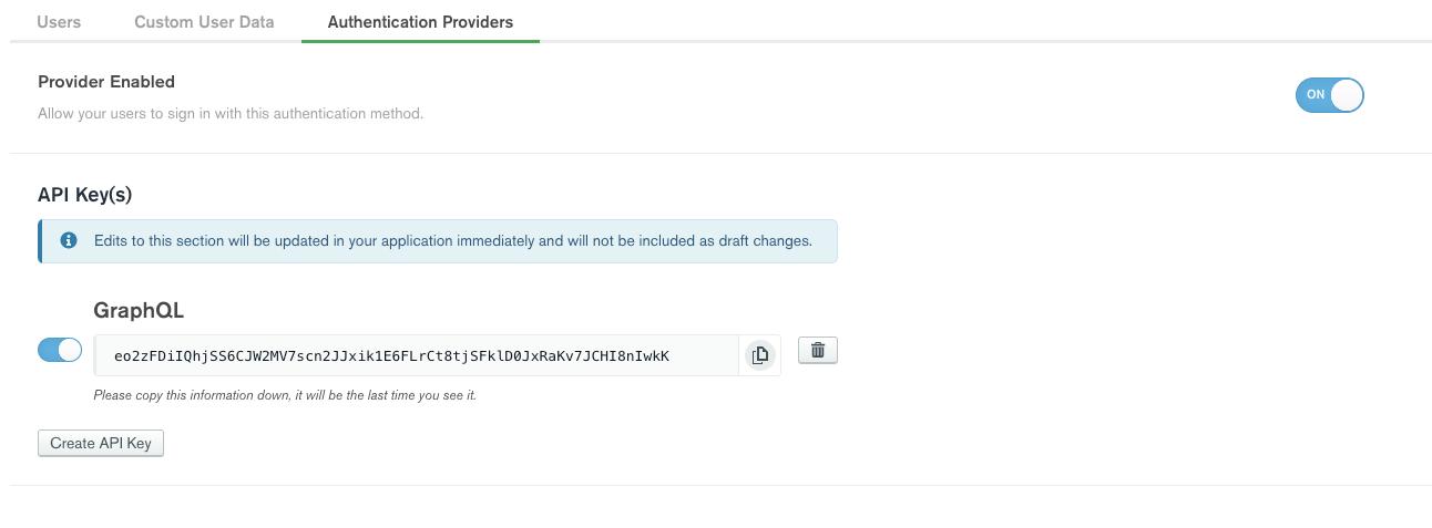 API Key Authentication Provider